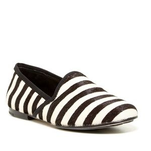 Gentle Souls Edge-y Calf Hair Loafers Flats 7 NWOB